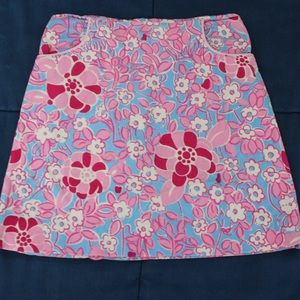 Lilly Pulitzer Girls Corduroy Skirt Pockets Sz 6